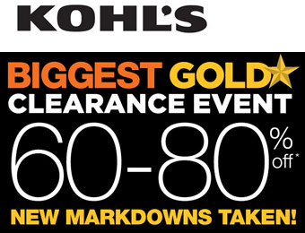 60-80% off Kohl's Gold Clearance Sale Event
