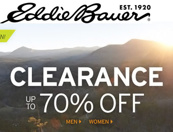 Up to 70% off Clearance Items at Eddie Bauer
