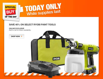 40% off Select Ryobi Paint Tools