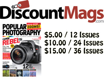 91% off Popular Photography Magazine Annual Subscription