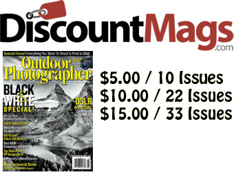 87% off Outdoor Photographer Magazine Annual Subscription