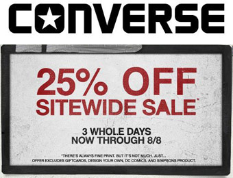 Extra 25% off Sitewide Sale at Converse.com