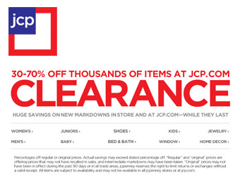 Up to 70% off JCP.com Clearance Sale, Thousands of Items