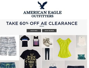 Extra 60% off American Eagle Clearance Items