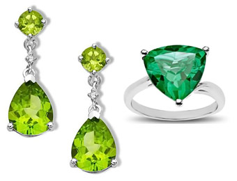 Extra 25% off August Birthstone Jewelry w/code: 25GREEN