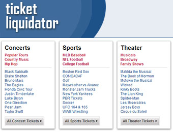 $25 off $250+ order w/ Ticket Liquidator Coupon Code: augustix