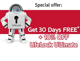 30 Days Free + 10% off LifeLock Ultimate