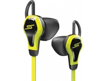 88% off SMS Biometric Earbuds with Heart Rate Monitor, Yellow