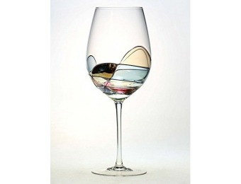 87% off Beautiful Hand Painted Large Wine Glasses - Set of 2