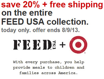 20% off + Free Shipping on the entire FEED USA collection