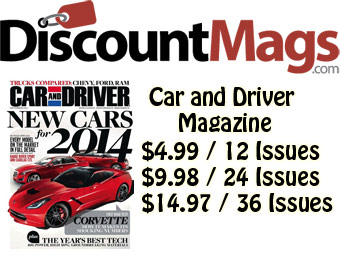 90% off Car and Driver Magazine, $4.99 / 12 Issues
