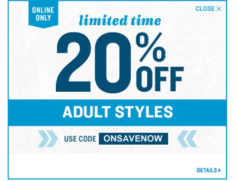 Extra 20% off Adult Styles at Old Navy w/code: ONSAVENOW