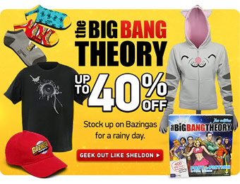 Up to 40% off The Big Bang Theory Merchandise