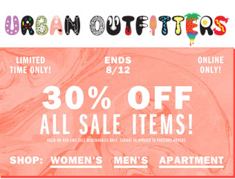 Extra 30% off All Sale Items at Urban Outfitters