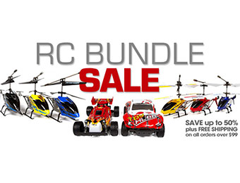 Up to 50% off RC Bundles (remote control helicopters, cars, trucks)