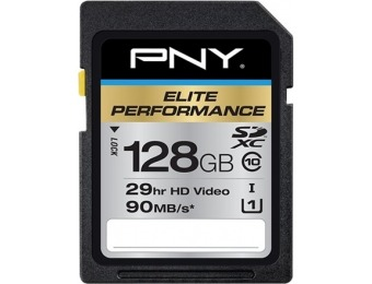 47% off PNY Elite Performance 128GB SDXC Memory Card