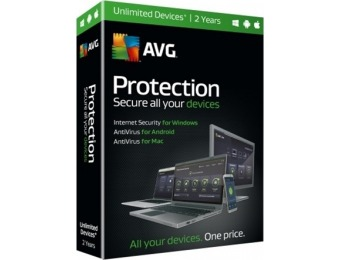 25% off AVG Software Download - Protection, 2-Year