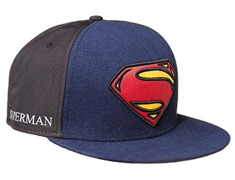 44% off Men's Superman Man of Steel Baseball Cap - Blue/Black