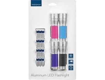 50% off Insignia Led Flashlights (4-pack)