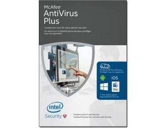 75% off McAfee Download - 2016 AntiVirus Plus Unlimited Devices