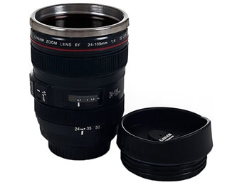 48% off Camera Lens Coffee Mug with Lid by Whetstone