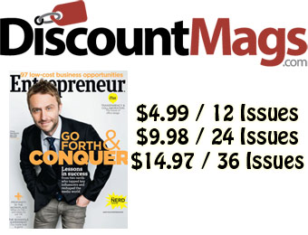 92% off Entrepreneur Magazine Annual Subscription, $5 / 12 Issues