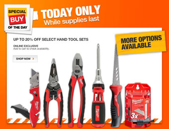 Up to 20% off Select Hand Tool Combo Sets