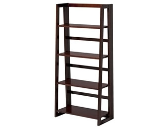 28% off Dolce 4-Shelf Folding Bookcase (Dark Walnut)