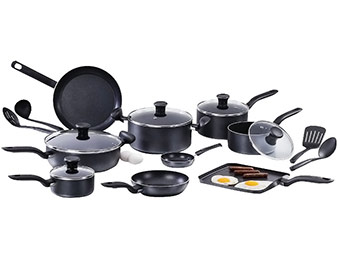 62% off 18 pc T-fal Initiatives Total Aluminum Non-Stick Cookware