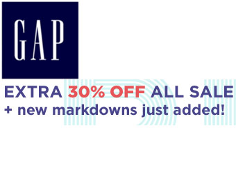 Extra 30% off All Sale Items with Gap Promotion Code GAPSALE