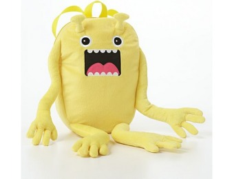 80% off Kids Fuzzy Monster Yellow Backpack