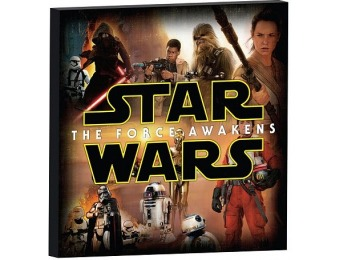80% off Star Wars The Force Awakens Character Collage Canvas Art