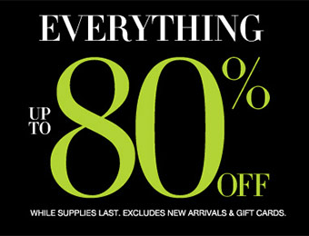 The Big Sale - Everything up to 80% off!