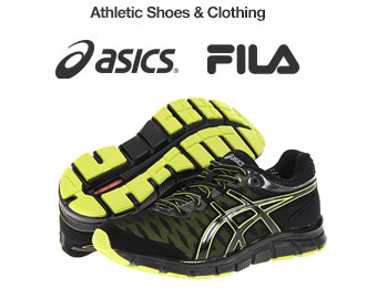 Up to 74% off Fila & Asics Apparel, Shoes & Accessories