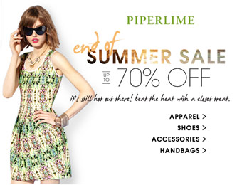 Piperlime End of Summer Sale, Up to 70% off Shoes, Apparel & More