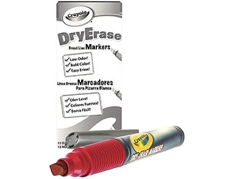 51% off Crayola Dry Erase Red Marker Pack (12 Count)