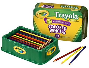 60% off Crayola Trayola Colored Pencils (54 Count)