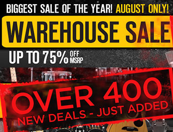 Musician's Friend Warehouse Sale - Up to 75% off MSRP