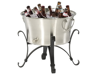 75% off Garden Treasures 4-Gallon Stainless Steel Ice Bucket