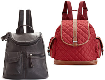 25% off Backpack Handbags (Marc Ecko, Nine West, Kipling, more)