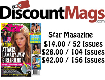 92% off Star Magazine Annul Subscription, $14 / 52 Issues