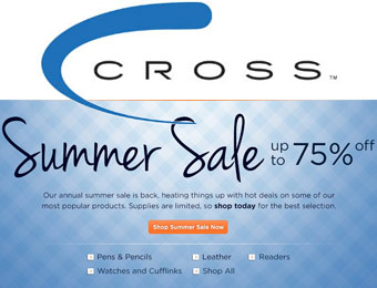 Up to 75% off Cross Pens and Pencils Summer Sale