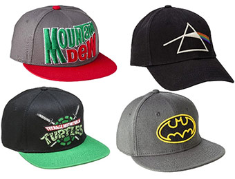 31% off Men's Licensed Baseball Caps (Batman, TMNT, Pink Floyd...)