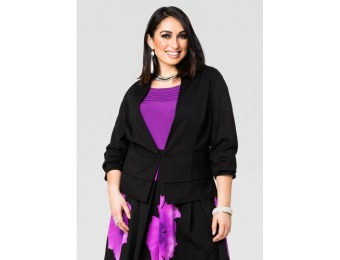 81% off Ashley Stewart Layered Hem Ponte Jacket