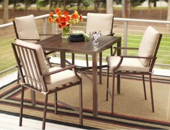 $180 off Hampton Bay Millstone 5-Piece Patio High Dining Set