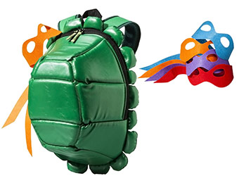 53% off Teenage Mutant Ninja Turtle Backpack w/ Colored Masks