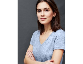 73% off Gap Linen V Neck Tee
