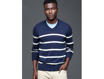 56% off Gap Men Cotton Stripe V Neck Sweater