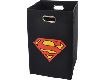 45% off Modern Littles Superman Logo Black Folding Laundry Basket
