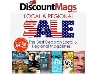 Local & Regional Magazine Sale, Rates as Low as $4.50 Annually